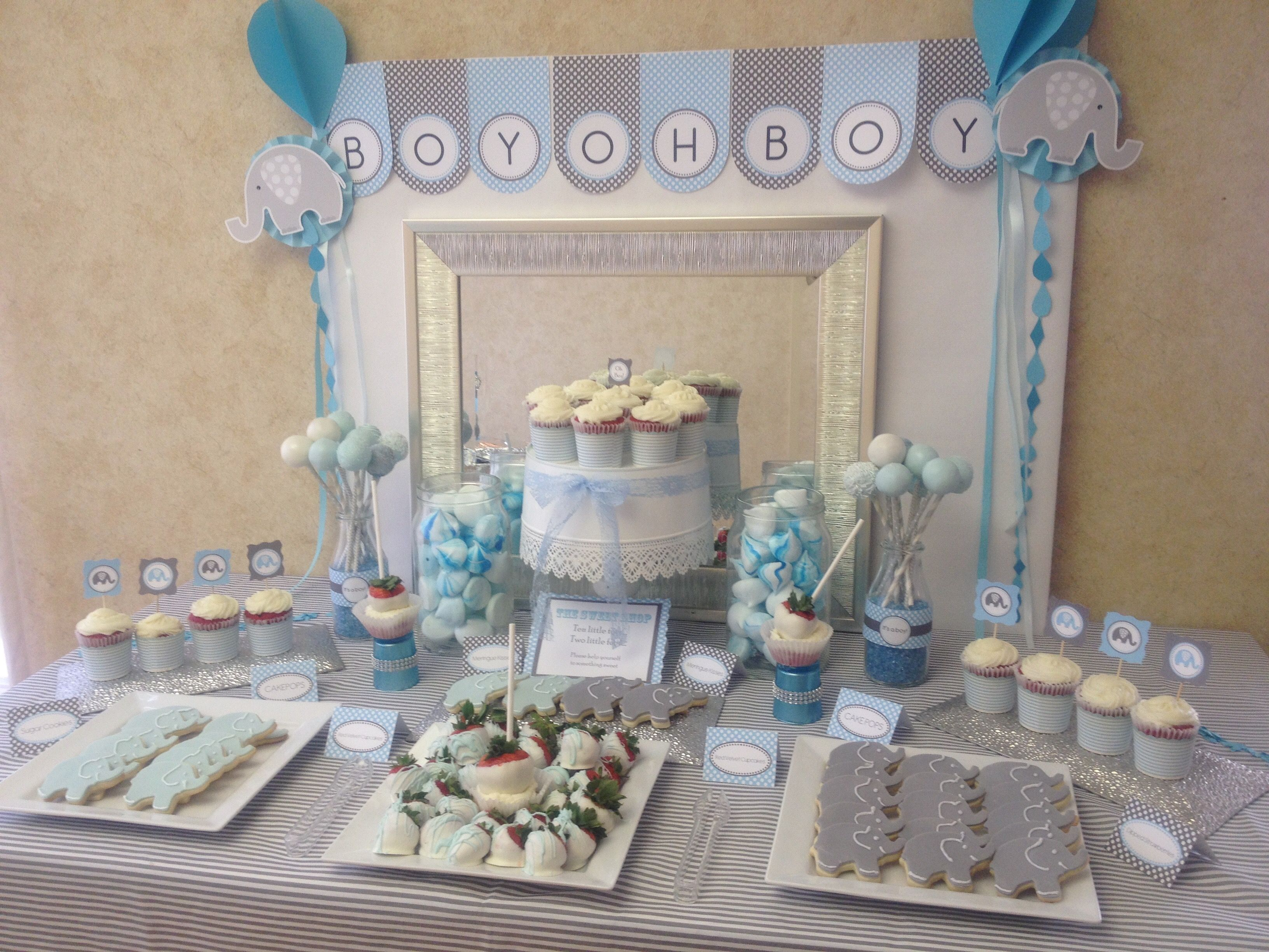 Awesome Boys Baby Shower Dessert Table, Elephant Blue And Gray Themed, Designed By  Myself And @CristinaDaSilva