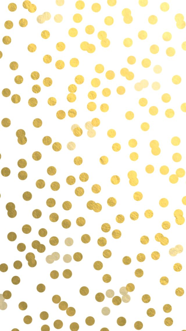Gold Confetti Dots |  iPhone/iPad background freebie