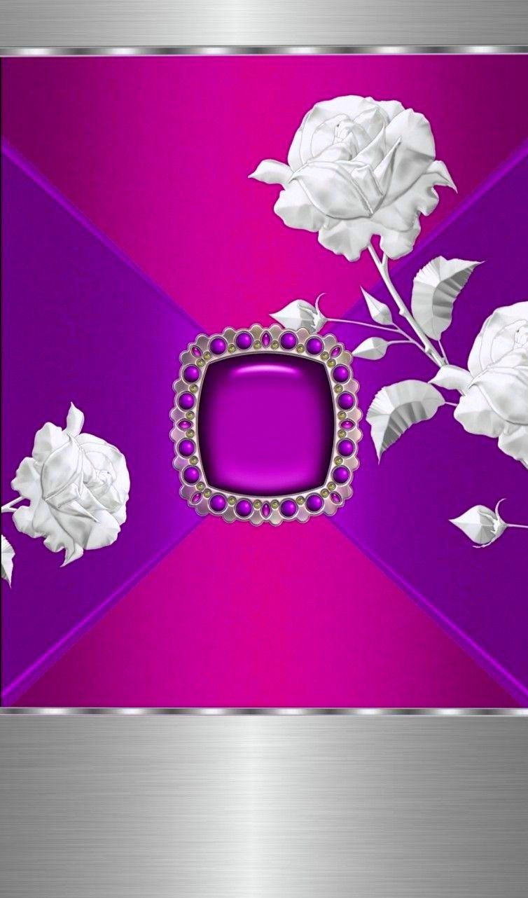 Pink Purple Silver Rose WallpaperBy Artist Unknown