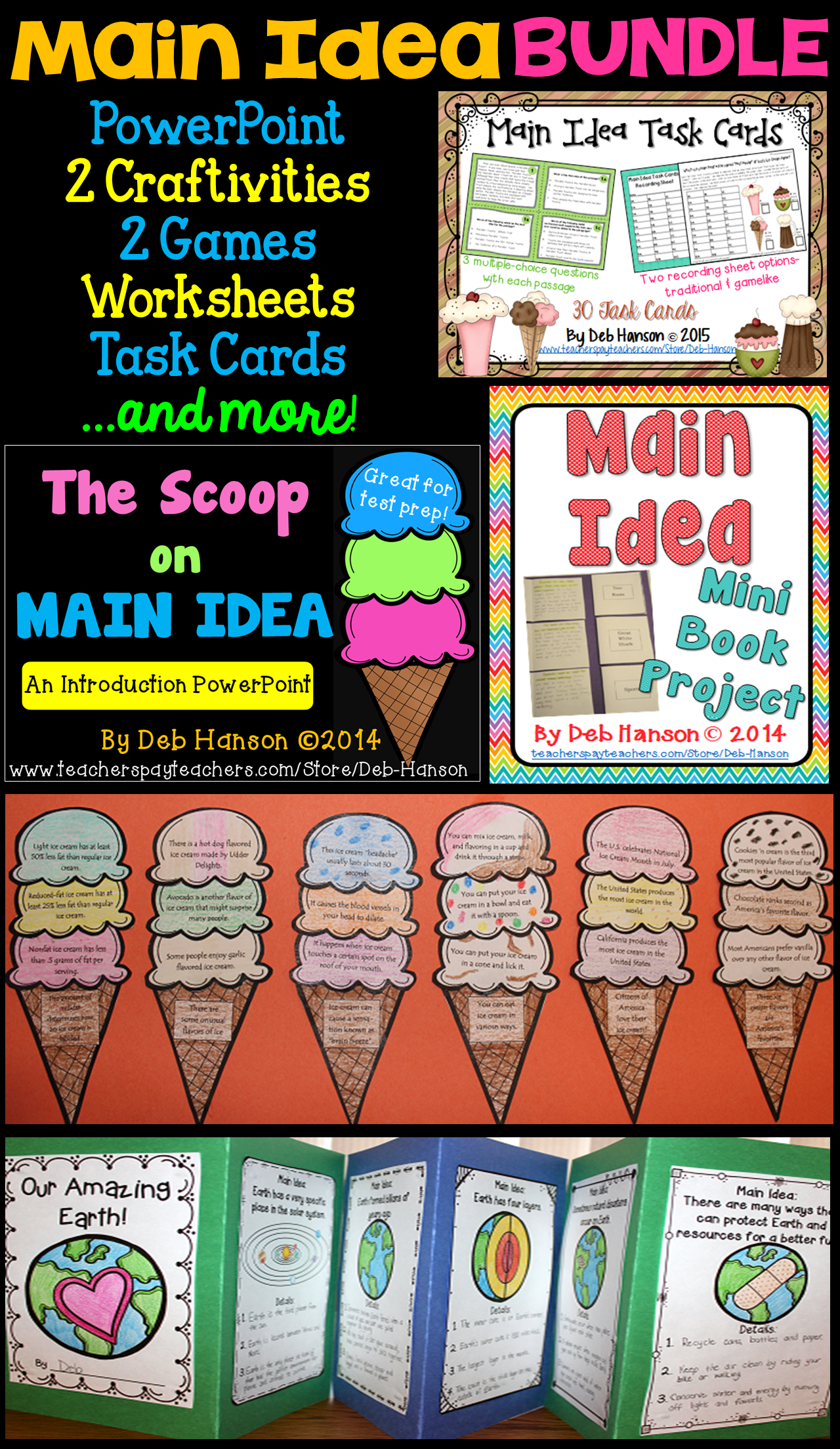 Main Idea Bundle 4th 5th And 6th Grade Reading