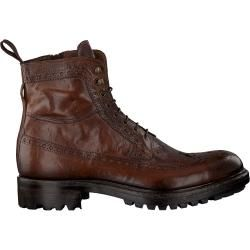 Photo of MazzelTov lace-up boots 9079 cognac men