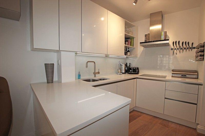 High Gloss White Kitchen From Lwk Kitchens White Gloss Kitchen White Modern Kitchen Small White Kitchens