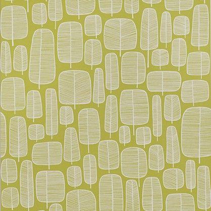 Little+Trees+-+Lime+-+retro+tapet