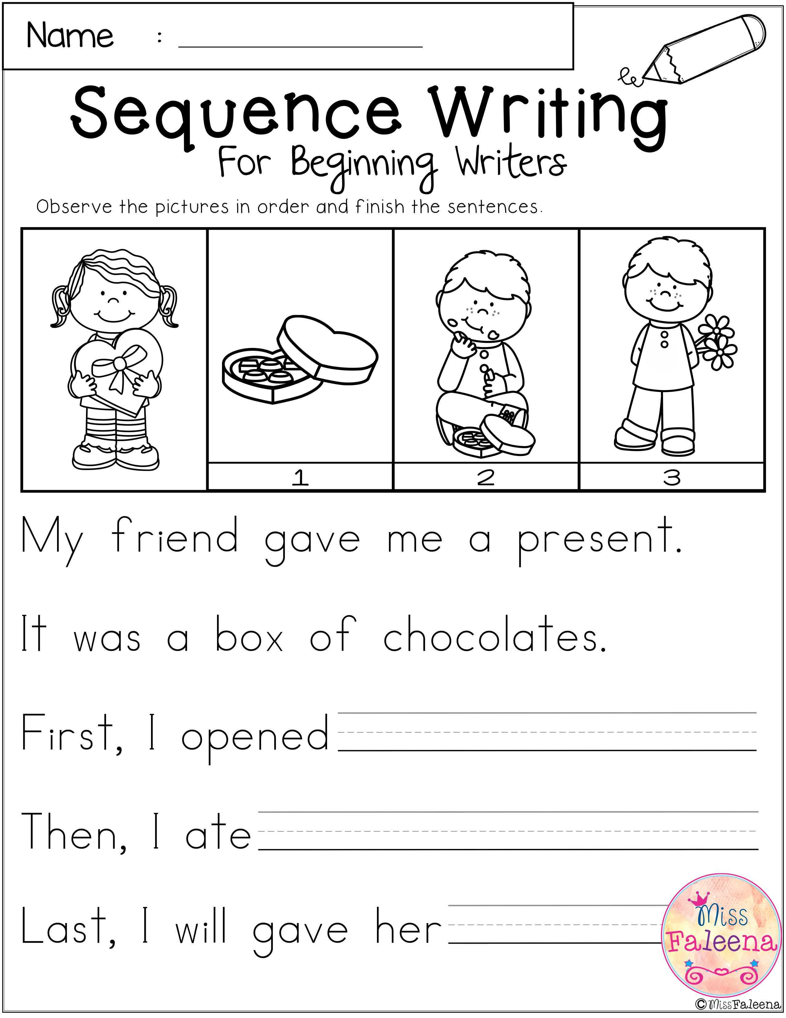 February Sequence Writing Contains 30 Pages Of Narrative Prompts Worksheets Students Will Observe Sequence Writing Sequencing Worksheets Kindergarten Writing [ 3300 x 2550 Pixel ]