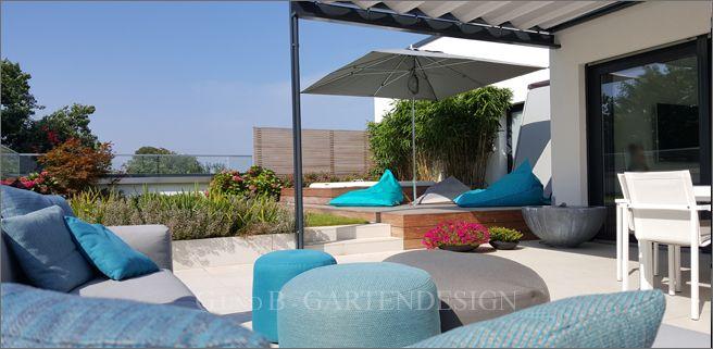 Dachterrasse einer Penthouse-Wohnung, Rooftop garden #gardendesign - moderne gartengestaltung exklusiver