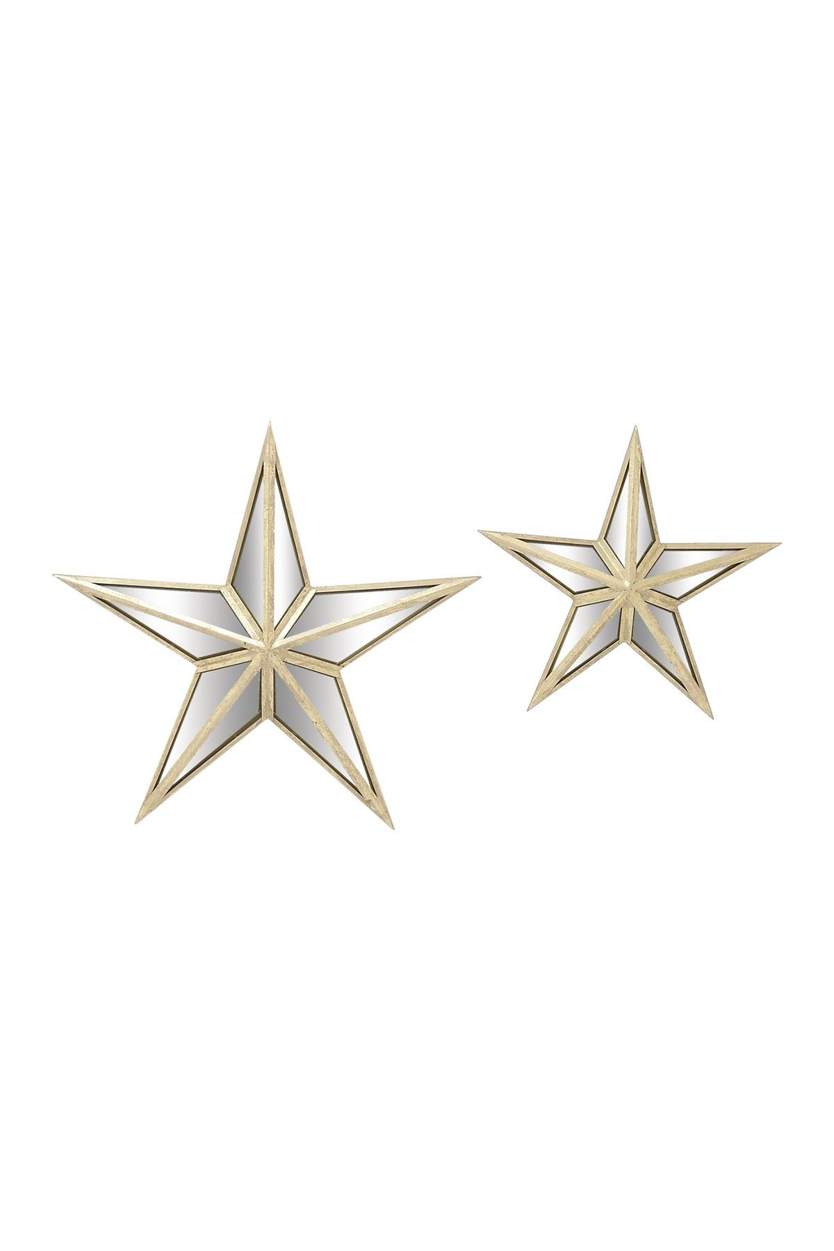 Star Wall Art Mirrored Star Wall Decor 2Piece Setuma On Hautelook  Home
