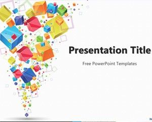 Free Cubes Presentation Design | school ideas | Pinterest ...