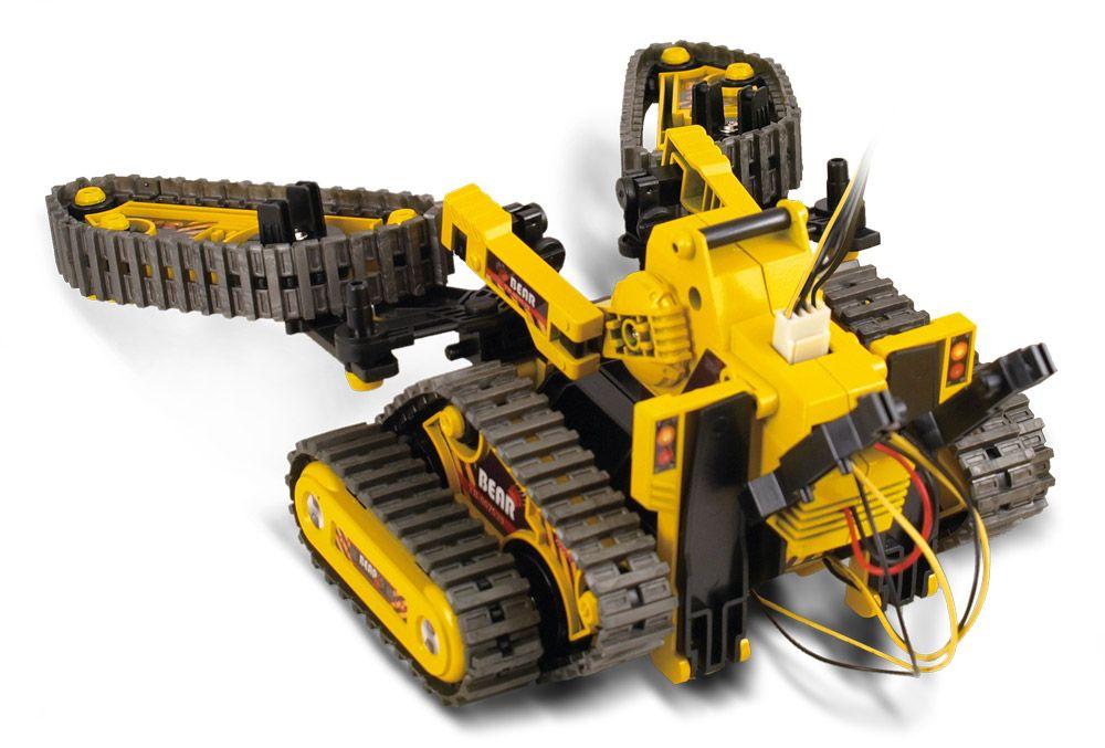 Een reeks Robotkits voor de toekomstige ingenieur. Bouw deze kits en raak op een prettige manier vertrouwd met de wereld van de elektronica, mechanica en hydraulica! De drie-in-één alle-terrein robot is een multifuncionele mobiele robot met rupsbanden.