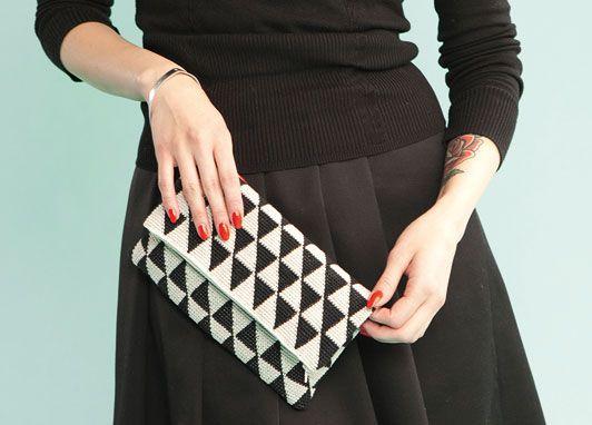 Black&White Crochet Bag