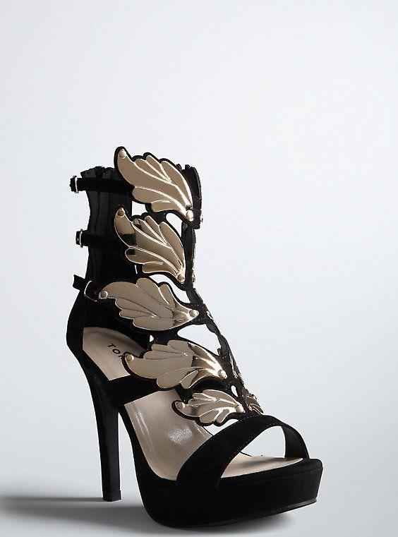 f957fead7bf Wide Wing Cage Heels (Wide Width) - Cute Wide Shoes