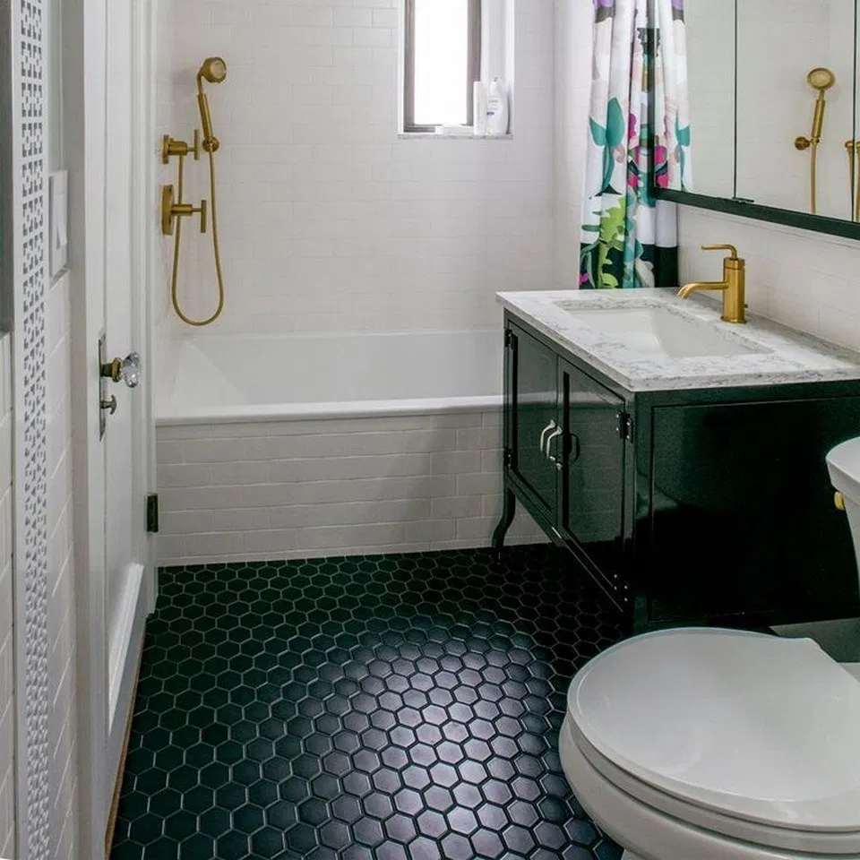 21 Things I Learned During My Bathroom Tile Renovation 7 Black