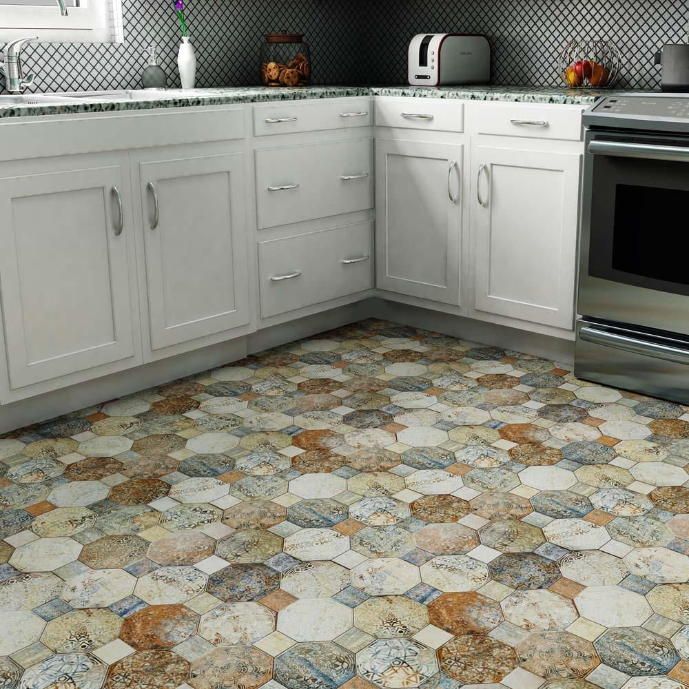 Merola Tile Silex Decor 17 3 4 In X 17 3 4 In Ceramic Floor And Wall Tile 22 5 Sq Ft Case Fcg18sxd The Home Depot Ceramic Floor Merola Tile Flooring