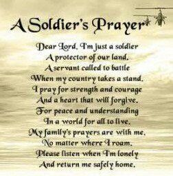 A soldiers prayer | tattoos | Soldiers prayer, Military