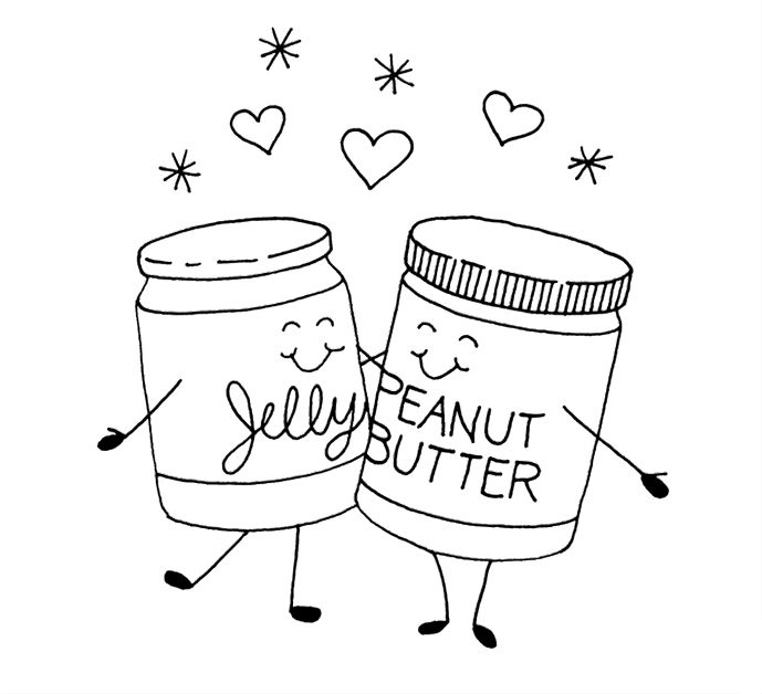 Peanut Butter Jelly Time Coloring Page Coloring