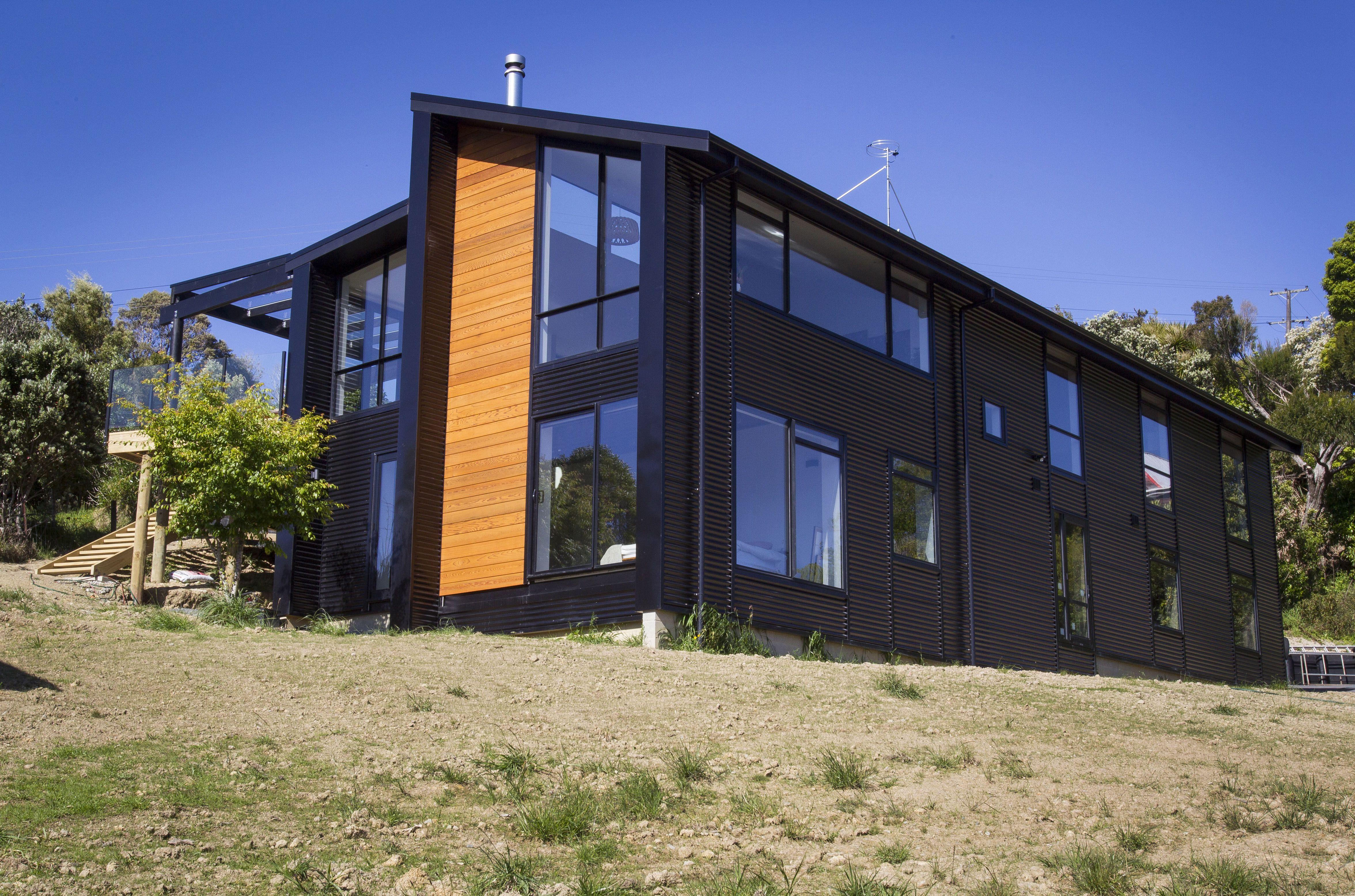 Roof Dimond Corrugate Veedek Black Mynewroof Cladding Building Steel Roofing