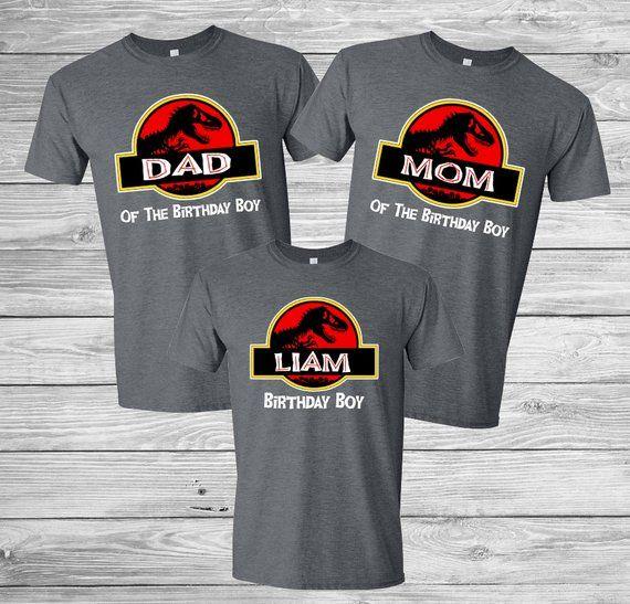 8c0c6eb1 Personalized Jurassic World and Park Birthday Shirt Family Set Birthday-  Family set. Unisex family T
