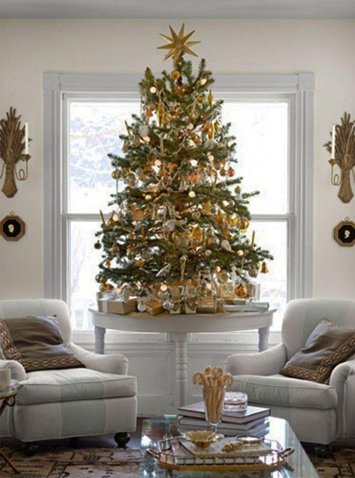 Taller Tree Elegant Christmas Decor Small Christmas Trees Decorated Neutral Christmas Decor