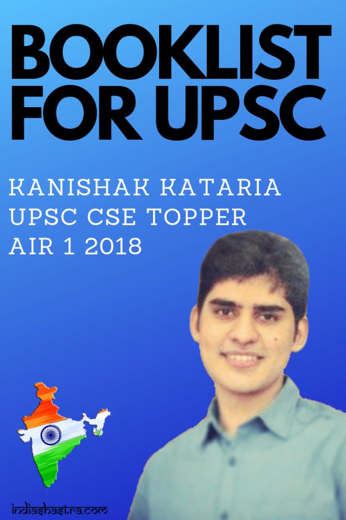 Kanishak Kataria Air 1 Upsc Cse 2018 Strategy Booklist Mark Sheet And Tips Book Lists Ias Books Upsc Civil Services