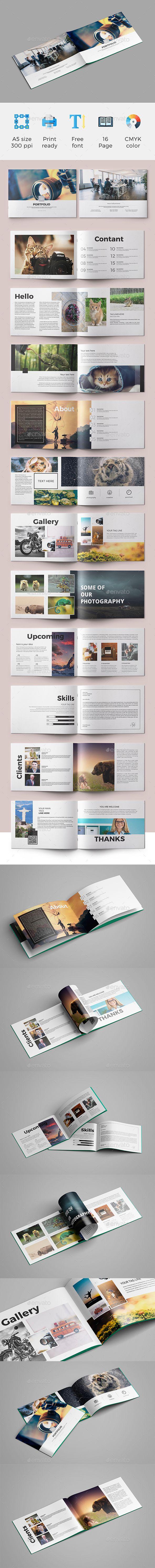 A5 Brochure (Portfolio) 03 | Diseño editorial, Editorial y Portafolio
