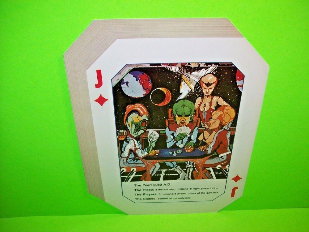 1980 Williams Alien Poker pinball super kit