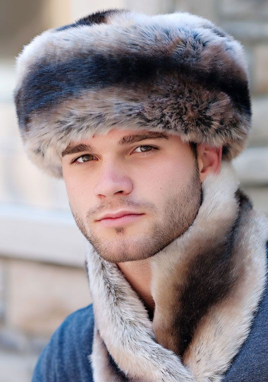 b63f4bc5e Men's Chinchilla Faux Fur Russian-Style Hat | FURS FOR EVERYONE ...