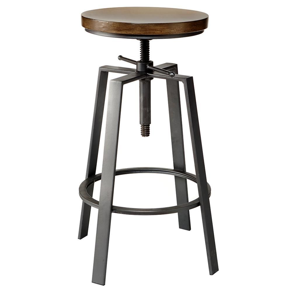 Magnificent Pine Wood Adjustable Bar Stool Bar Counter Stools Dining Gmtry Best Dining Table And Chair Ideas Images Gmtryco
