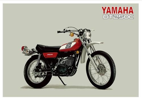 YAMAHA-Poster-DT250-DT250C-Trail-1976-Suitable-to-Frame