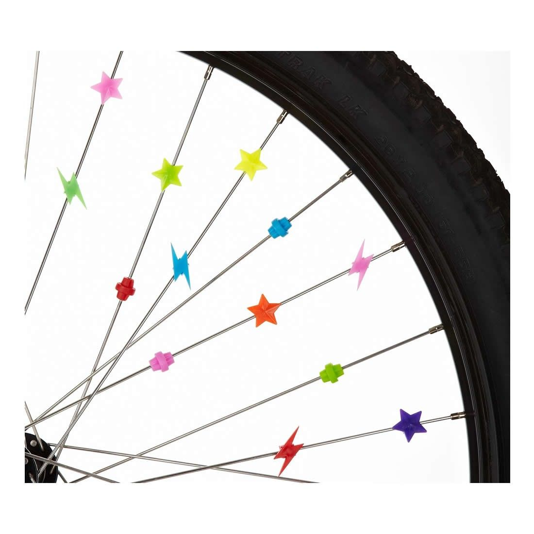 Multi Coloured Bike Wheel Spoke Beads Decors Spokey Decoration for All Cycle