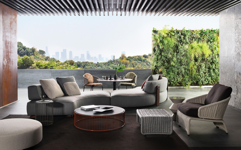 Florida Outdoor Sofa Garden Sofas From Minotti Architonic Italian Furniture Design Outdoor Sofa Outdoor Living