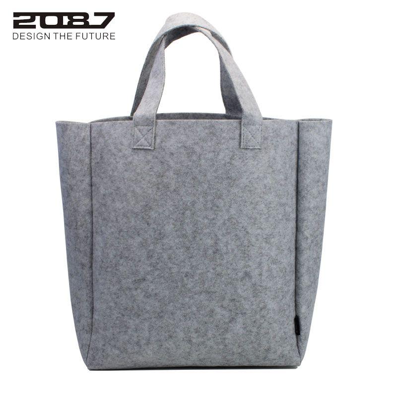 2087 Brand Fashion Felt Tote Bag Women Big Shoulder Bags Female Large Shopping Handbag Totes Mother Shopping Bag High Quality