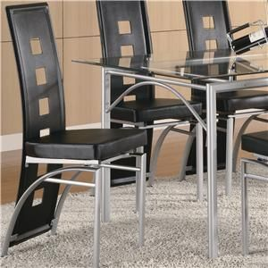 Spice Up The Dining Room With A Couple Of These Sleek Modern Black Chairs Coaster Los Feliz Chair