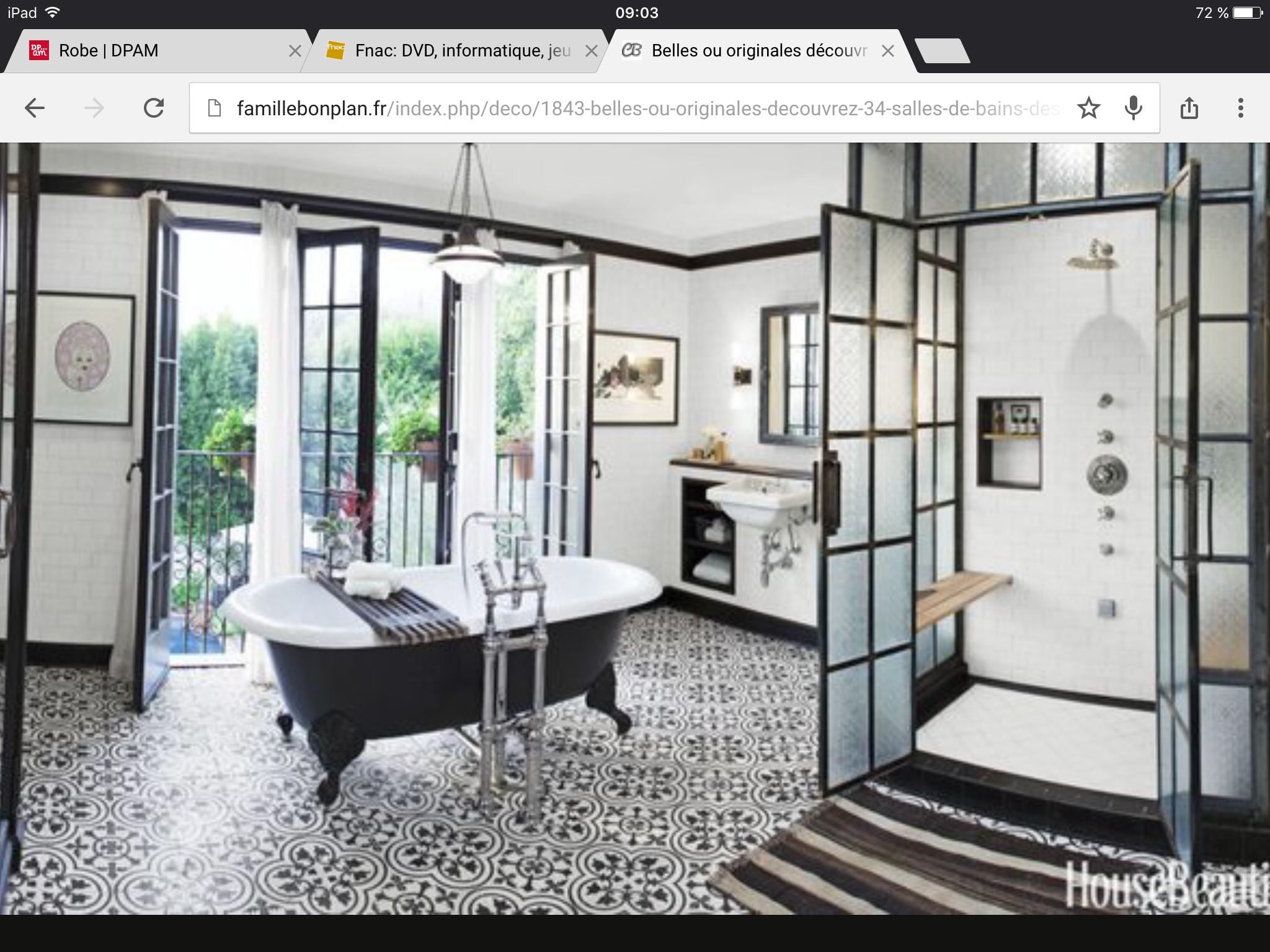 Pin by Carinne Respaut on Maison   Salle de bain blanche, Idée salle ...