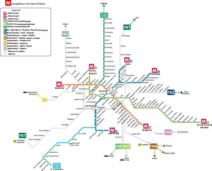 Providence Subway Map.Rome Transit Map Maps Train Map Subway Map Train Route