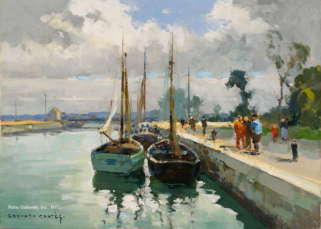 Populaire Edouard Leon Cortes (1882-1969) | Normandie en peinture  LQ09