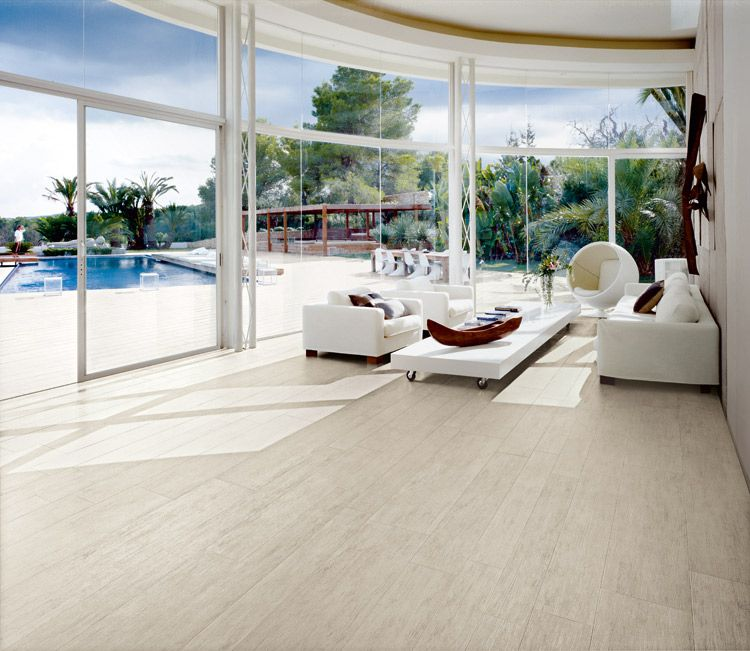 Porcelain tile in living room porcelain tile that looks for Indoor outdoor wood flooring