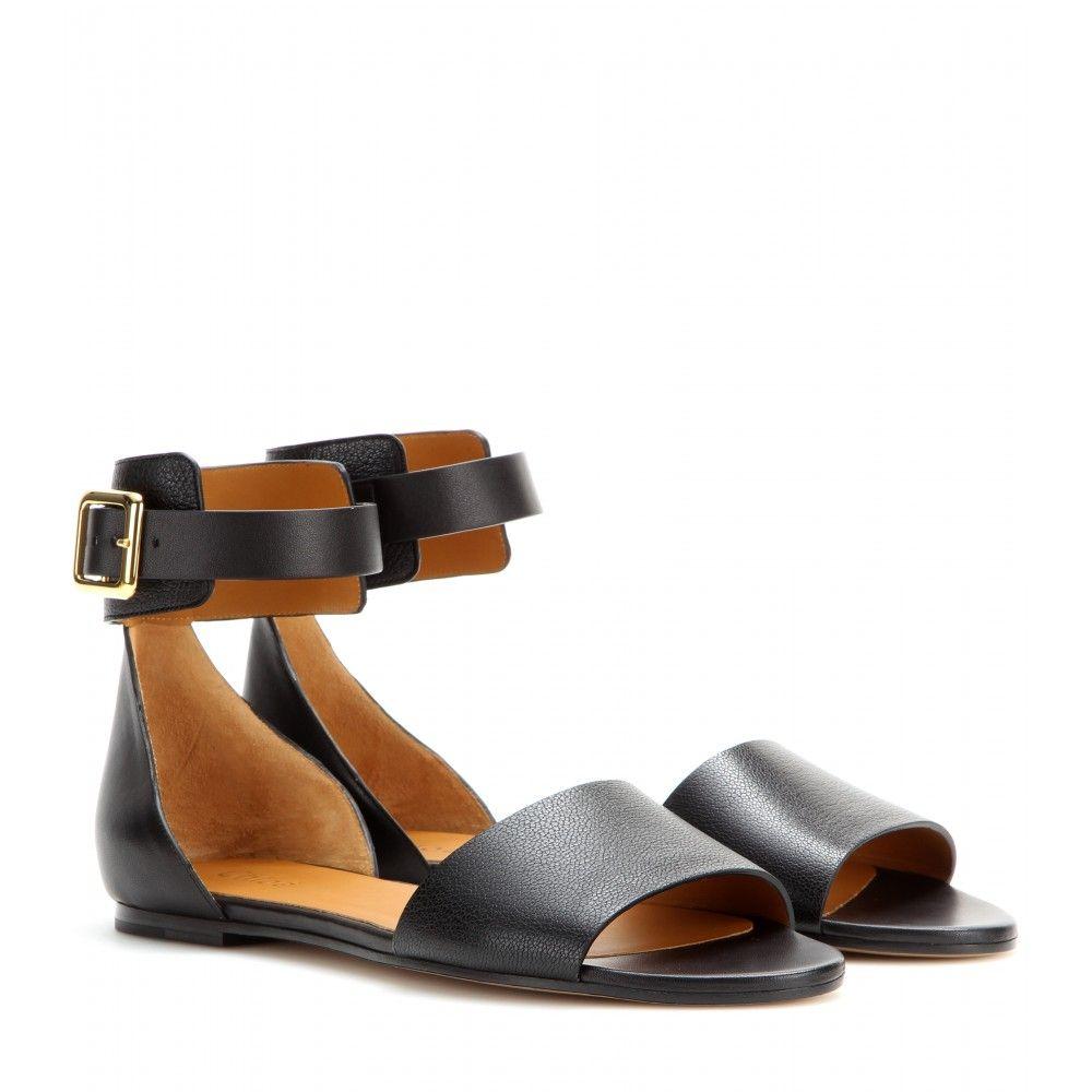 Chloé - Leather sandals - mytheresa.com