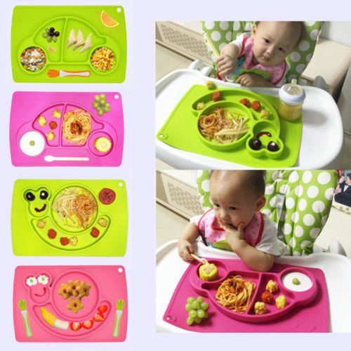 Silicone Mat Table Baby Kids One Piece Food Dish Tray