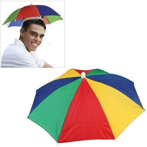 fa1fc46e67d69 Gacube Multicolor Umbrella Cap Sun Rain Fishing Camping Hat Review ...