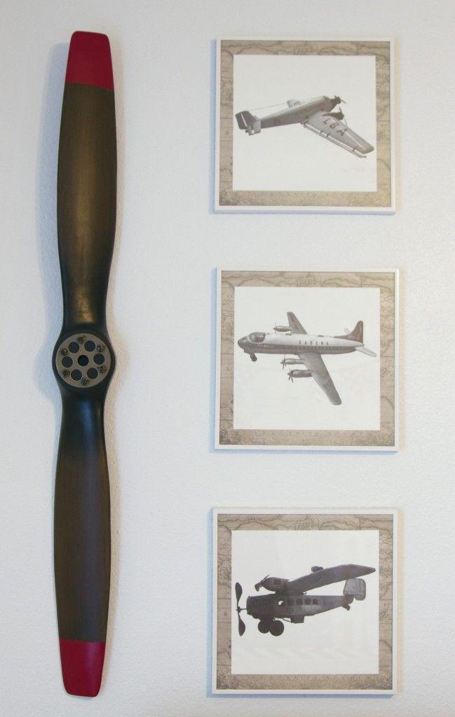Denton S Vintage Airplane Travel Nursery Wall Art