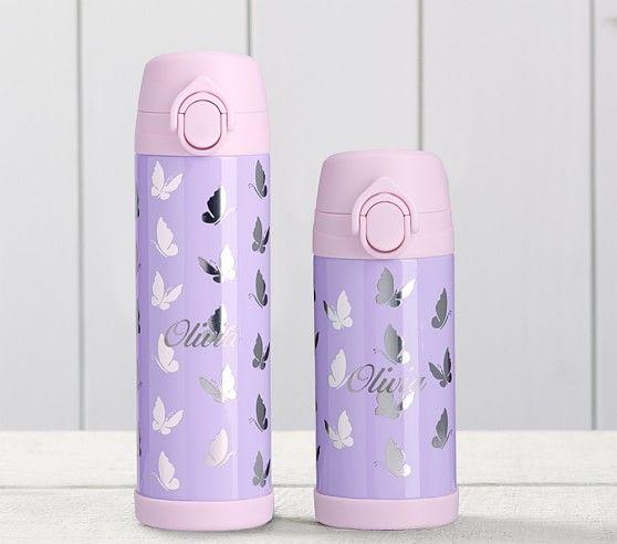 Mackenzie Lavender Iridescent Foil Butterflies Water