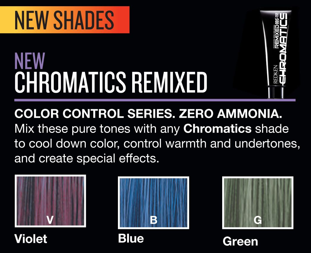 Redken new shades chromatics remixed all about the salon life redken chromatics remixed hair color for unisex g green 2 ounce this is a rich long lasting color its nourishing avocado conditioner nvjuhfo Images