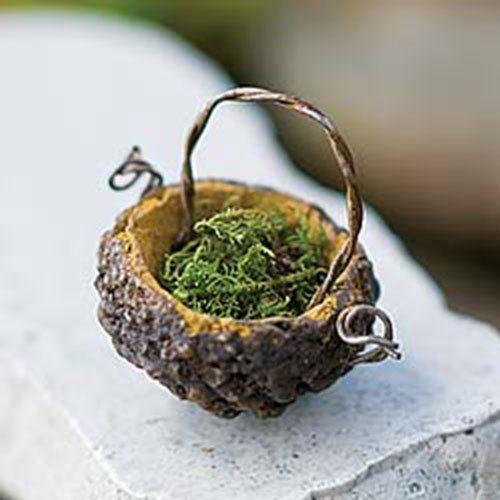 Acorn Basket Fairy - tiny