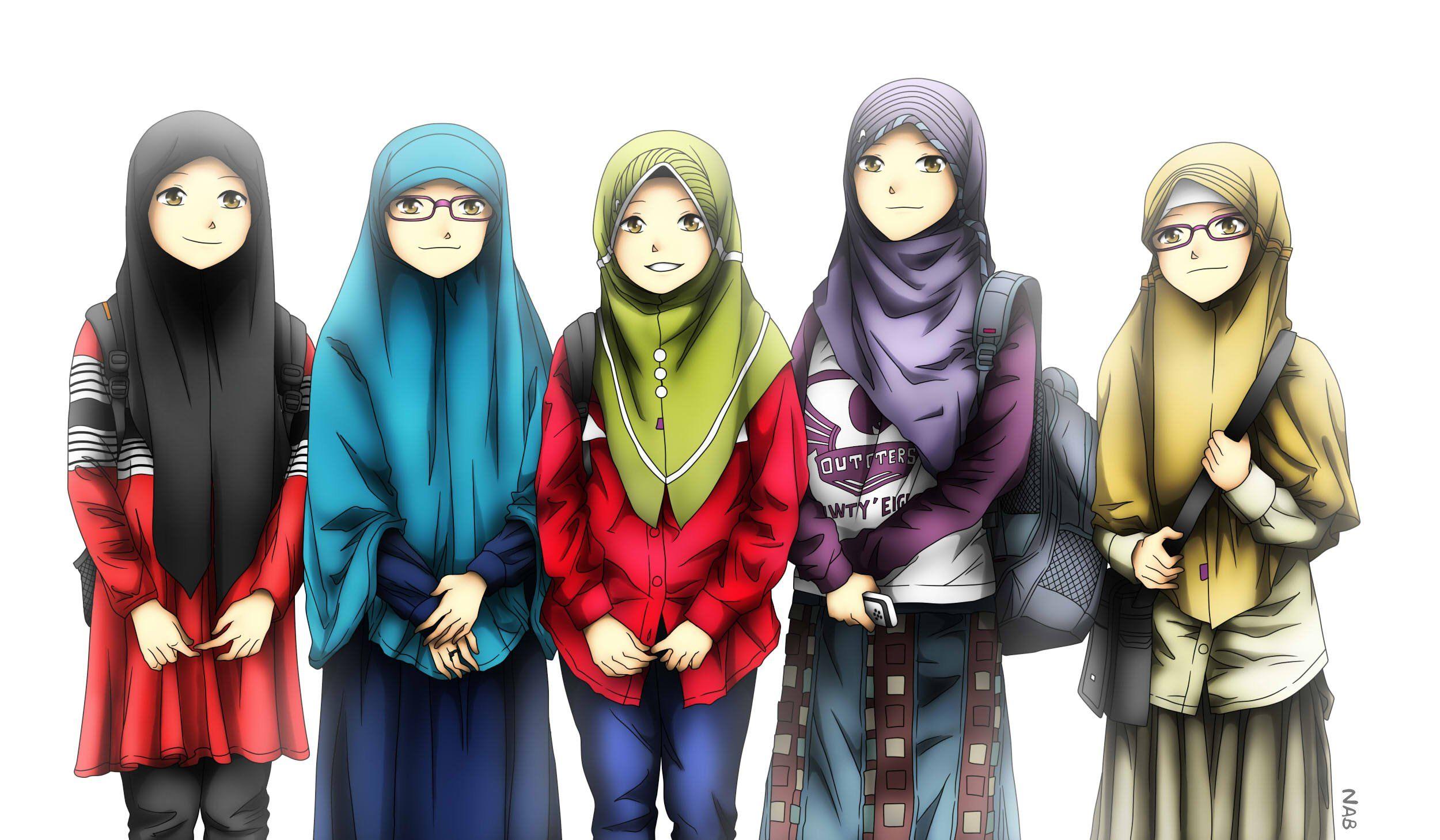 Pin oleh Elif Bayram di Muslim Gadis animasi, Sahabat