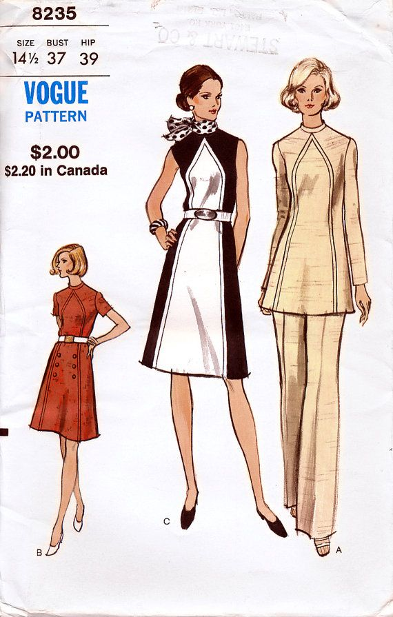 Vogue 8235 Vintage 70s Misses' and Half Sizes by retrowithlana