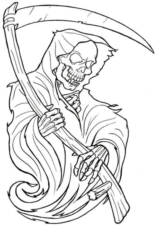 Grim reaper 2   Retro Tattoos for Guys   Pinterest   Grim reaper ...