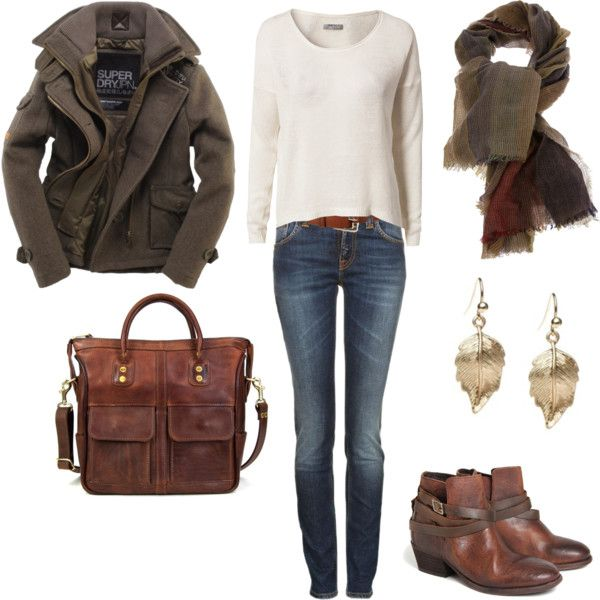 """comfy fall boots and slouchy sweater"" by lulums on Polyvore"