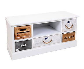 meuble tv melina bois et jute blanc et multicolore l100 d co bord de mer pinterest tvs. Black Bedroom Furniture Sets. Home Design Ideas