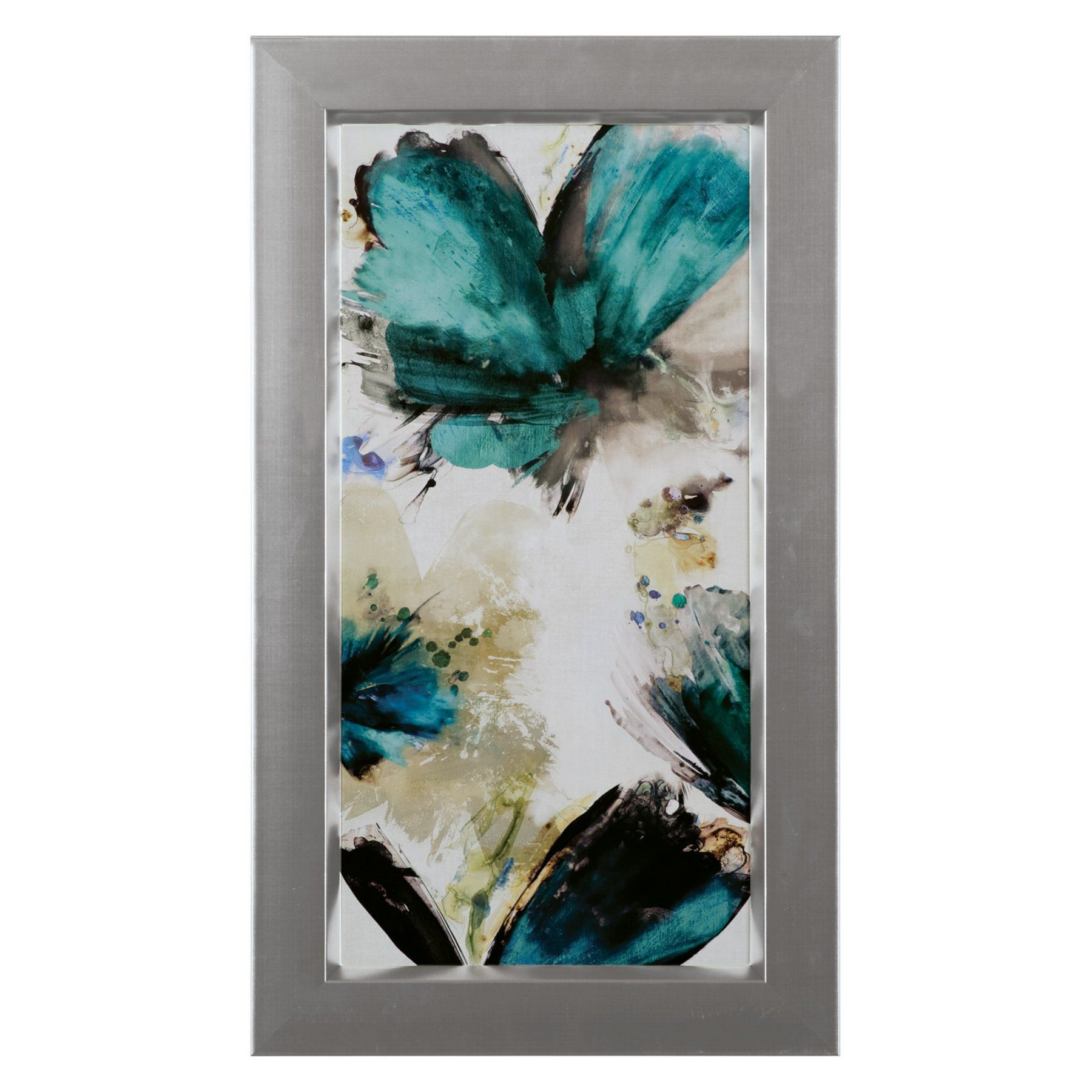 Art effects blue ribbon blooms i wall art d blue ribbon and