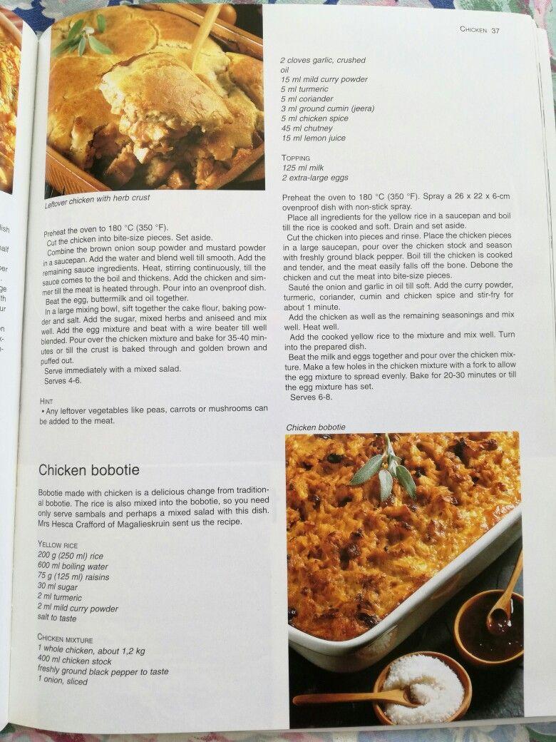 Chicken Bobotie Bobotie Recipe Recipes Chicken Spices