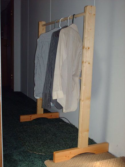 Portable Yard Sale Clothes Rack That Can Be Taken Apart And Stored